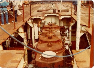 engine in the conora ship 001